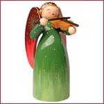 Wendt & Kühn Rijk beschilderde Engel met viool - groen