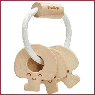 Plantoys Baby Sleutelrammelaar, hout naturel