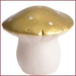 Paddenstoel lamp Vliegenzwam klein goud LED