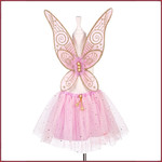 Souza for kids Cathline rokje + vleugels, roze verstelbaar