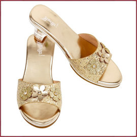 Souza for kids Slipper hoge hak, Ellina, goud metallic