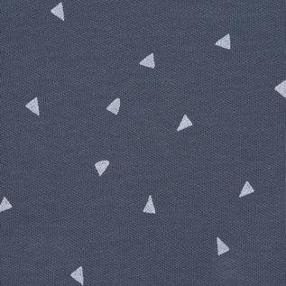 Lässig Overslagshirtje blauw triangel, GOTS