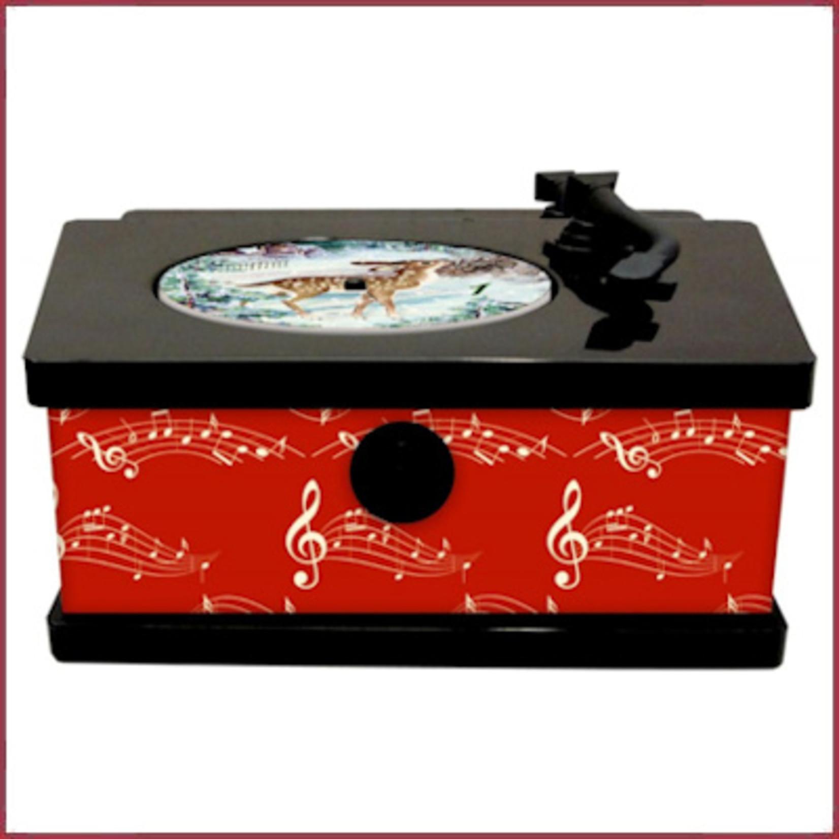 Spiegelburg Vintage Platenspeler / muziekdoosje met adventsliedjes