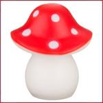 Egmont Toys Lamp Paddenstoel Spanje rood met witte stippen (LED)