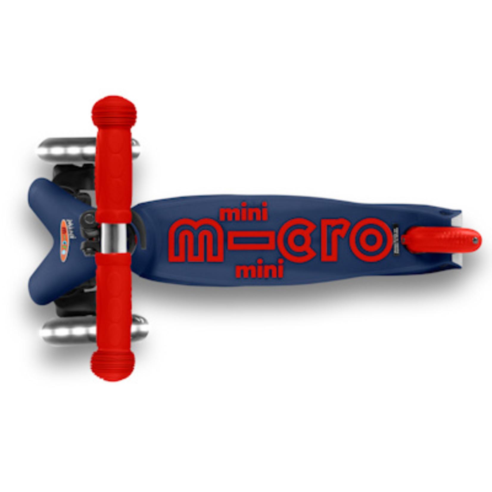 Micro Step Mini Micro step Deluxe marineblauw/rood LED