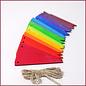 Grimm's Houten regenboog vlaggetjes