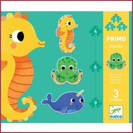 Djeco 3 Puzzels in de zee - 4,6,9