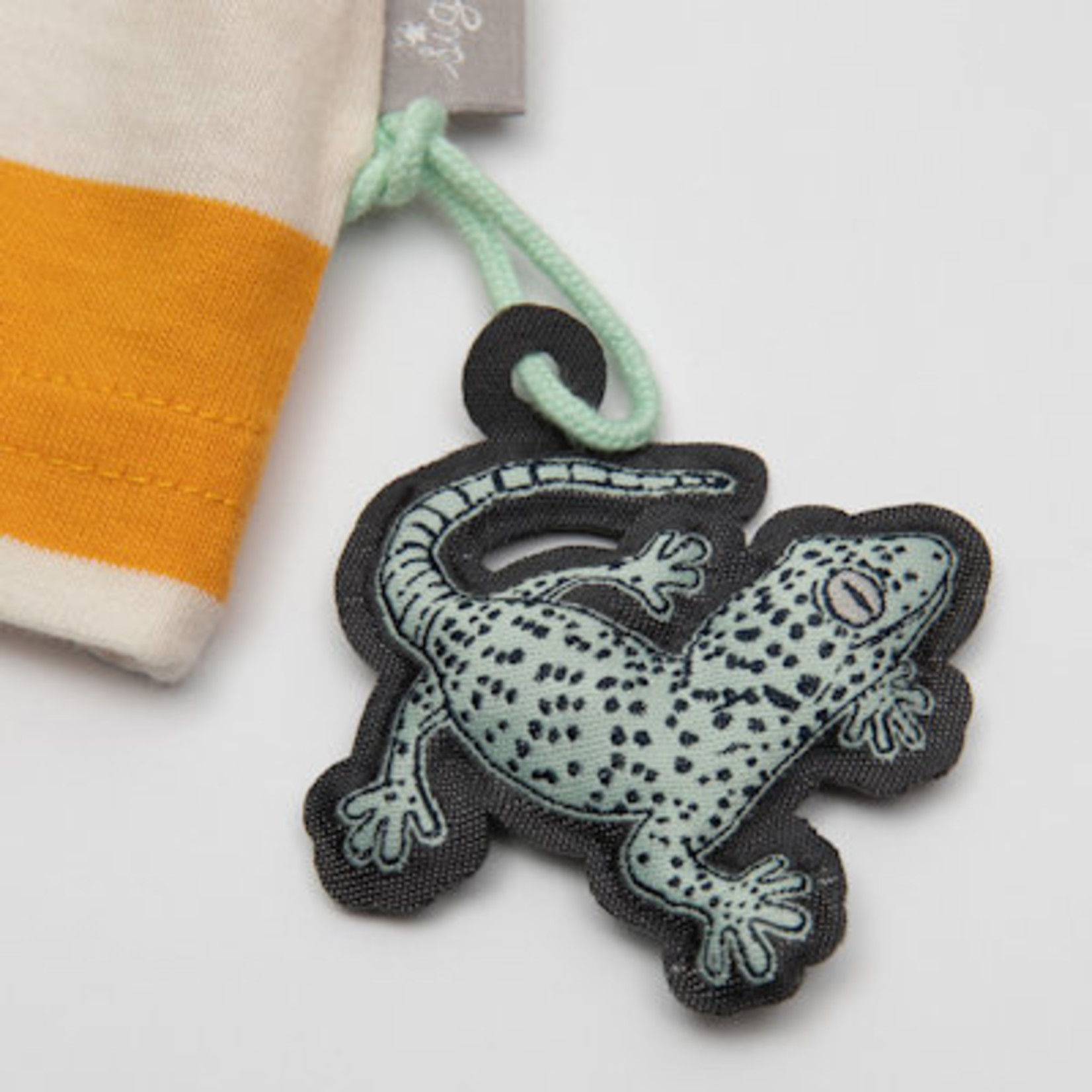 Sigikid Geel gestreept T -shirt korte mouw met olifantje