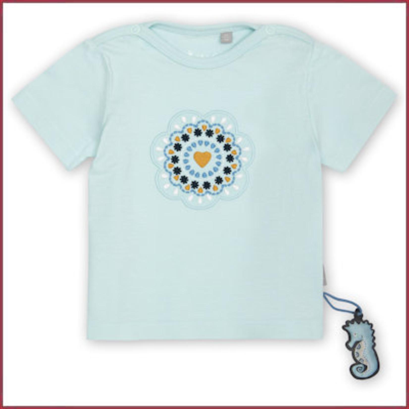 Sigikid T- shirt lichtblauw met borduursel hartje