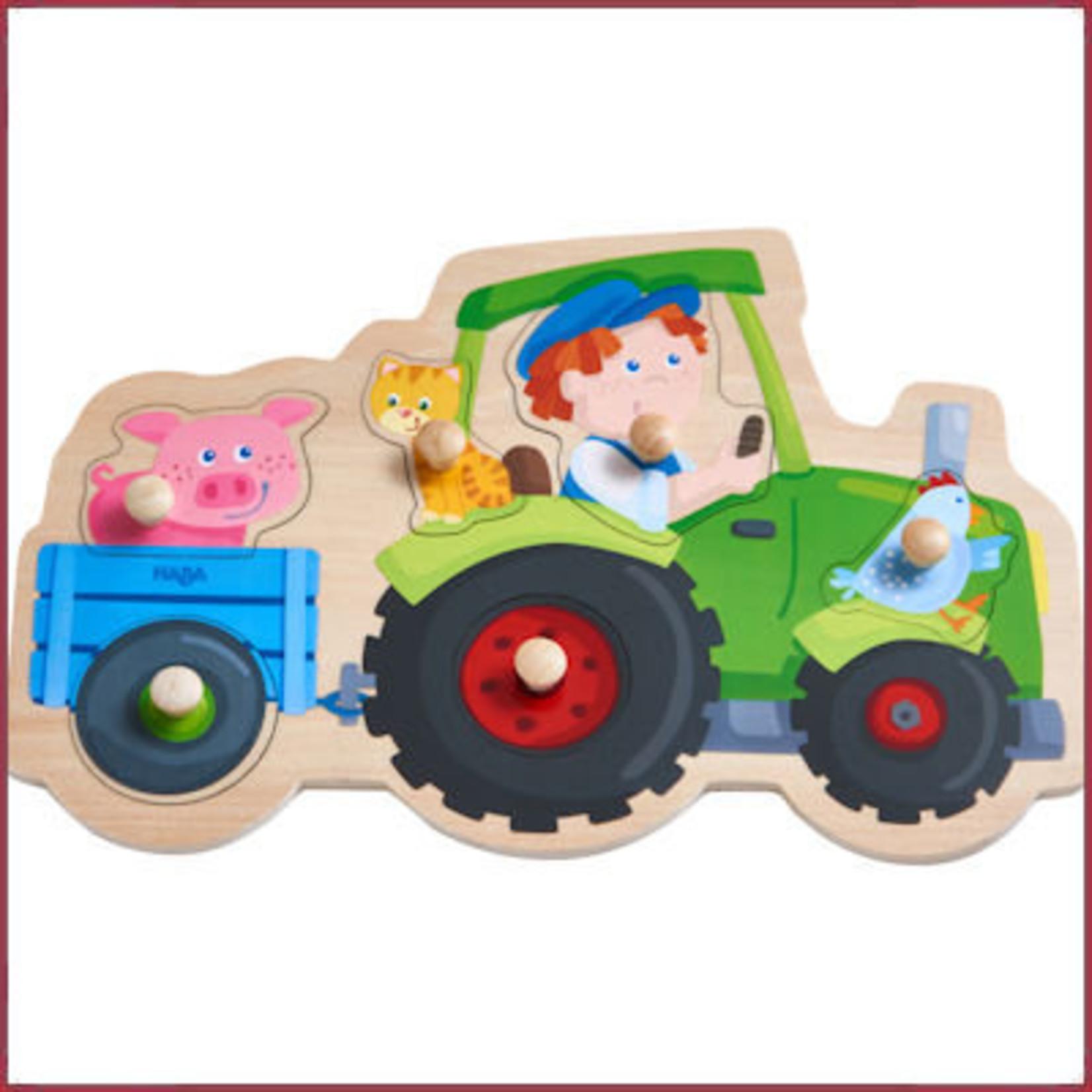 Haba Knoppuzzel op de Tractor