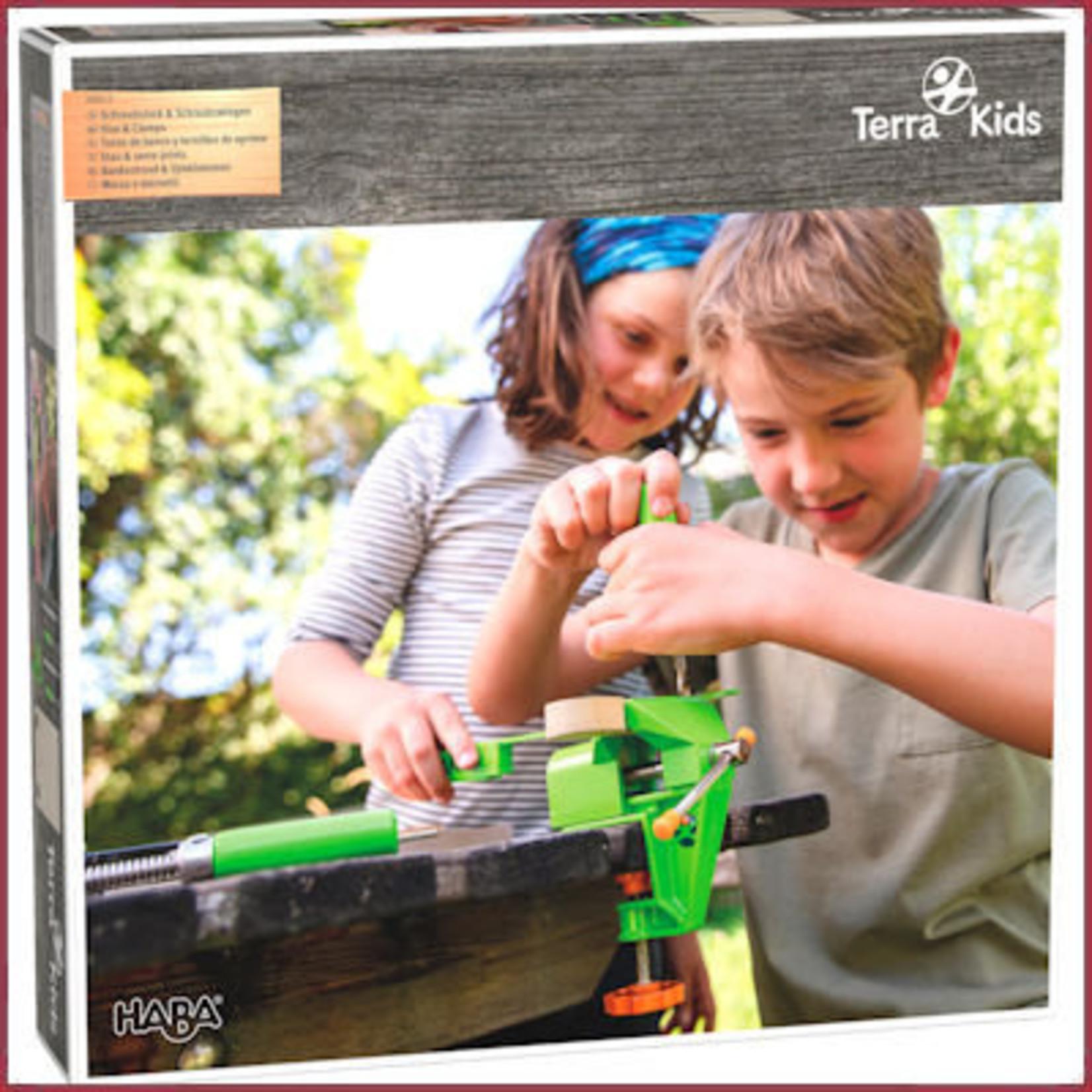 Haba Terra Kids - Bankschroef & Lijmklemmen