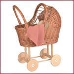 Egmont Toys Poppenwagen met gebreid dekentje