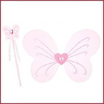 Souza for kids Caroli vleugels-toverstaf set, roze