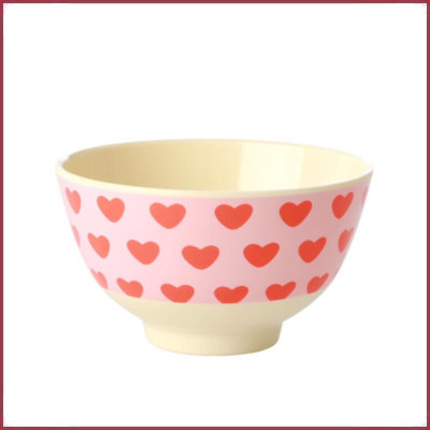 Rice Rice Bowl Small - Sweet Heart Print