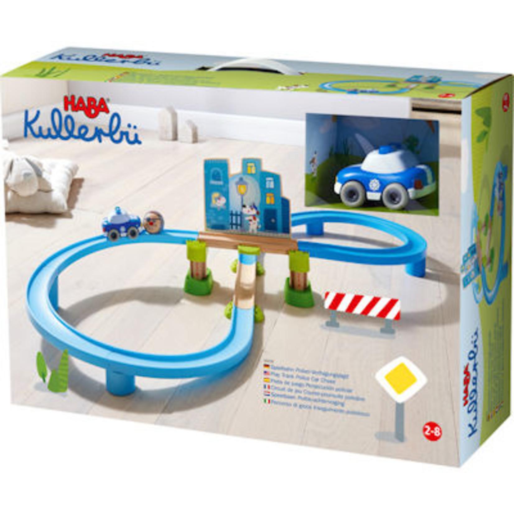 Haba Mijn eerste knikkerbaan Kullerbü - Speelbaan Politie achtervolging