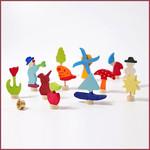 Grimm's Assortiment 4 seizoenen decoratieve steekfiguren