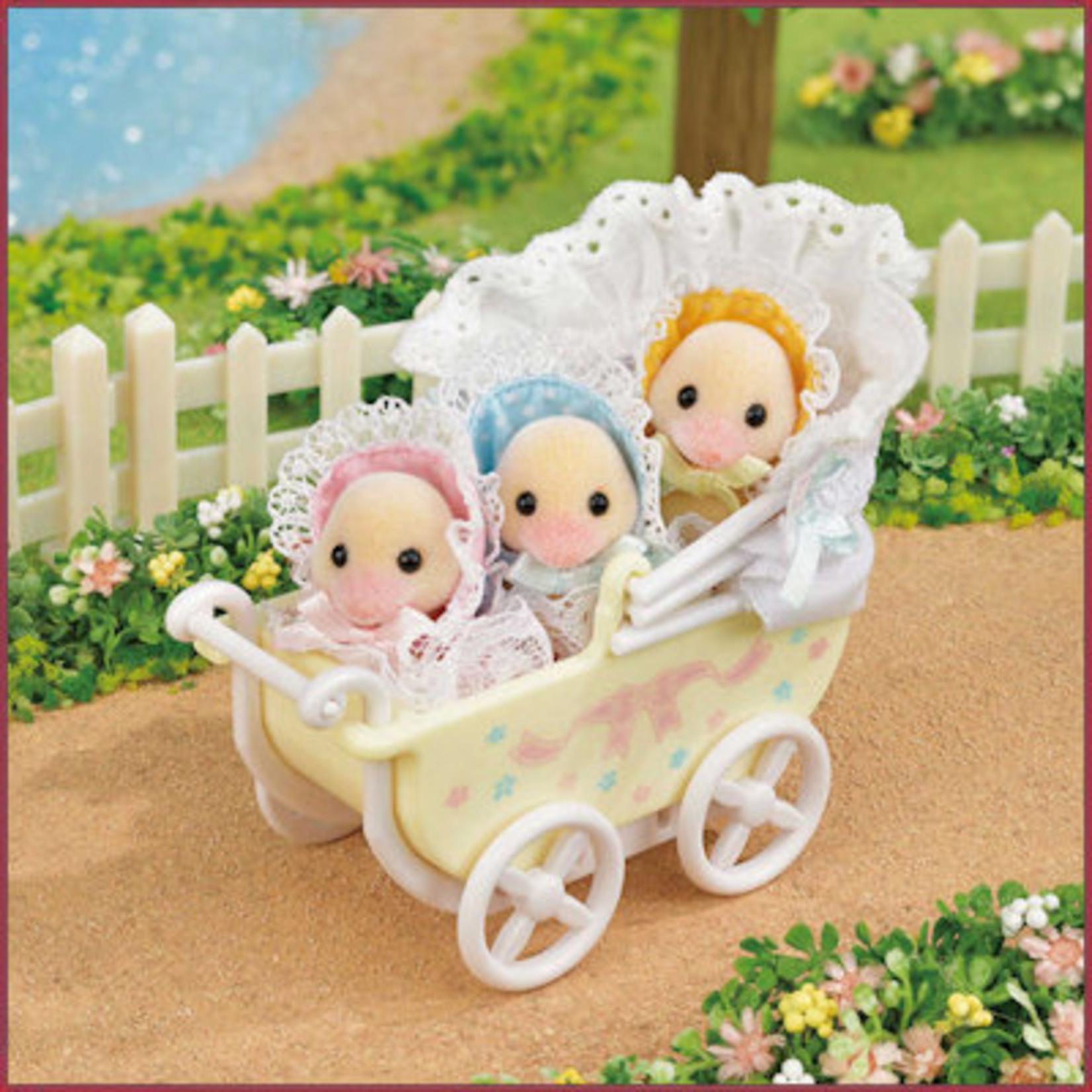 Sylvanian Families Schattige eendjes drieling met kinderwagen