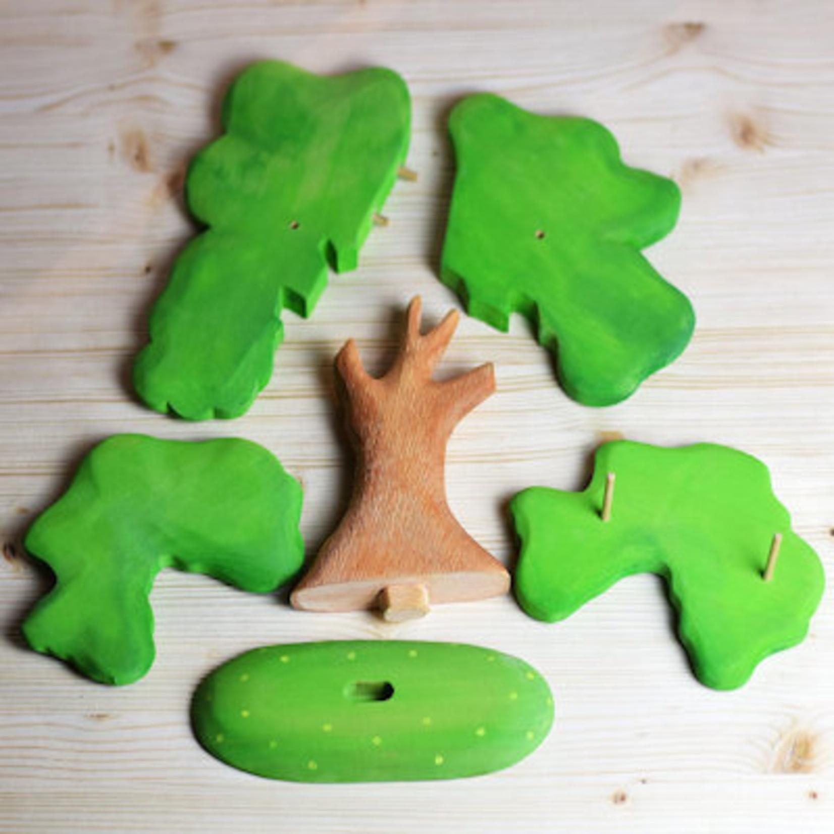 Bumbu Toys Groene eik, groot