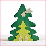 Bumbu Toys Kerstboom houten puzzel
