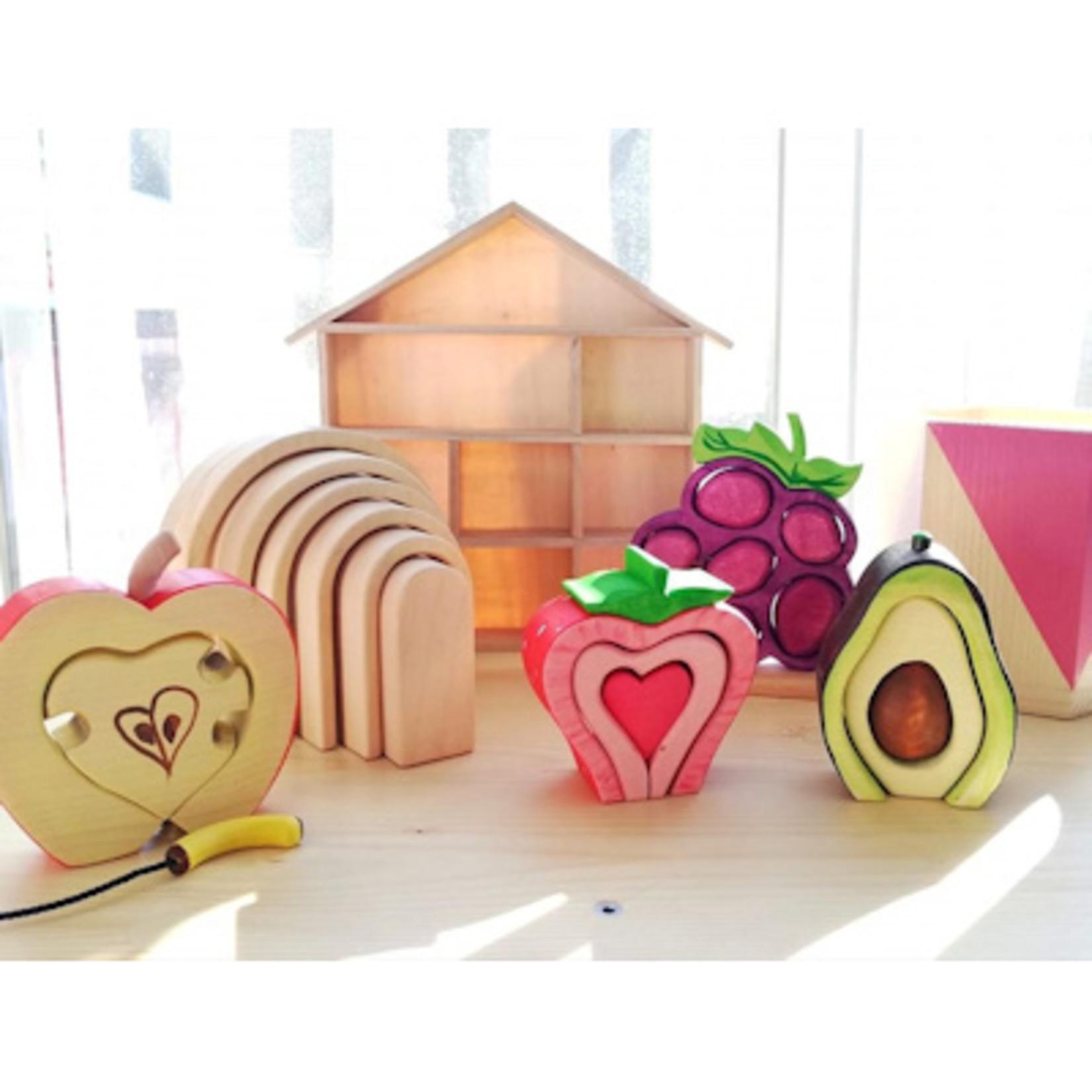Bumbu Toys Houten bogen naturel 6 dlg