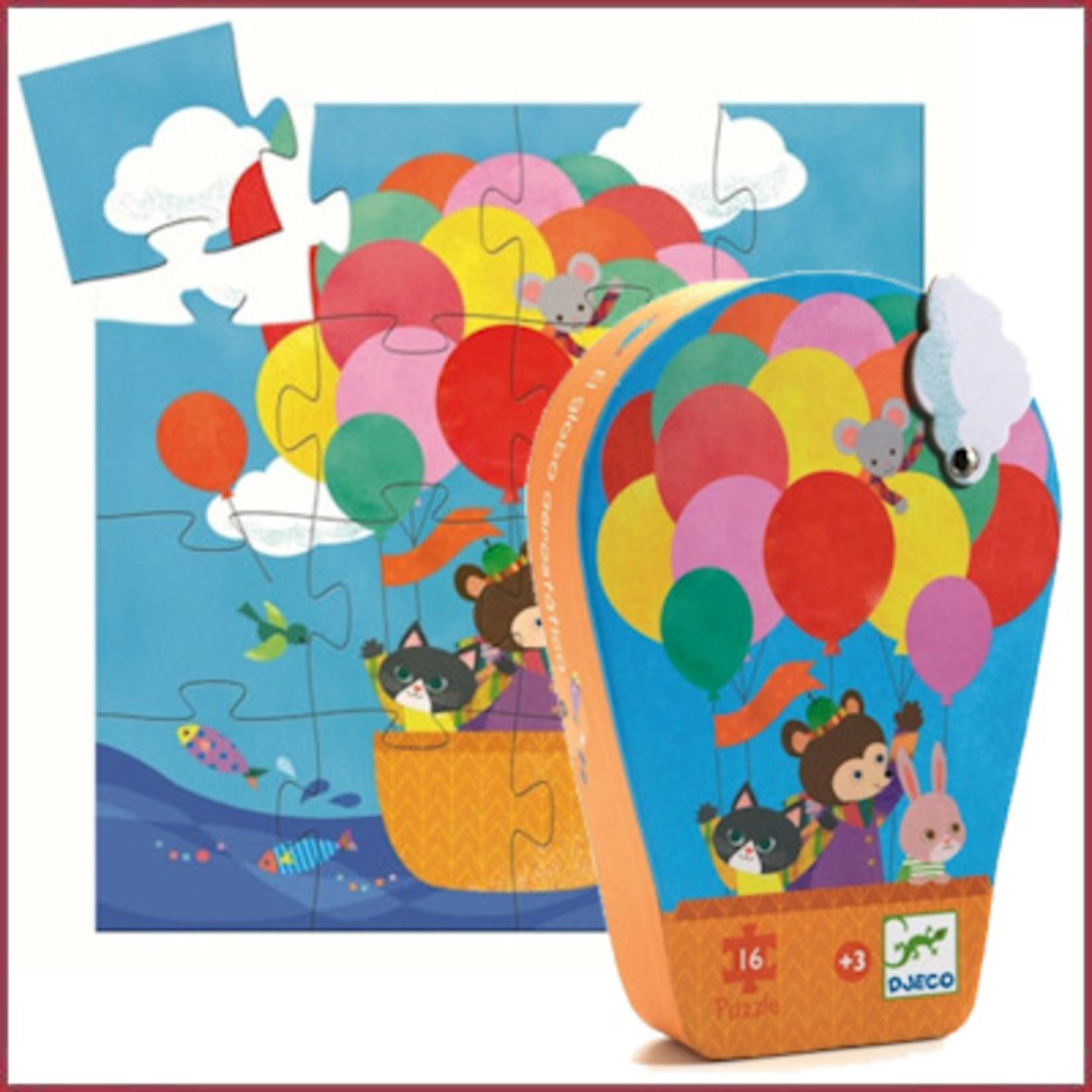 Djeco Puzzel Heteluchtballon 16 stukjes