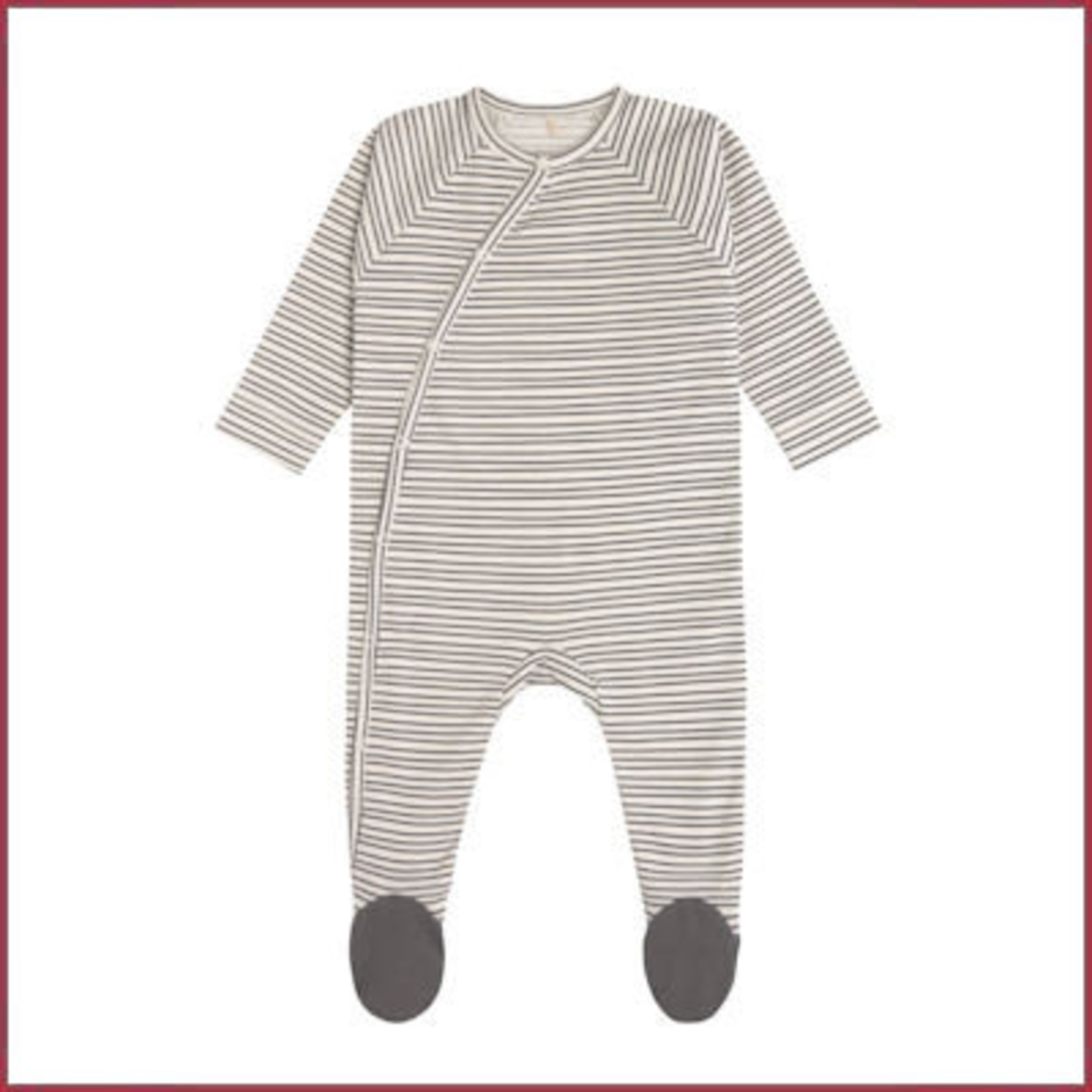 Lässig Pyjama met voetjes GOTS gestreept