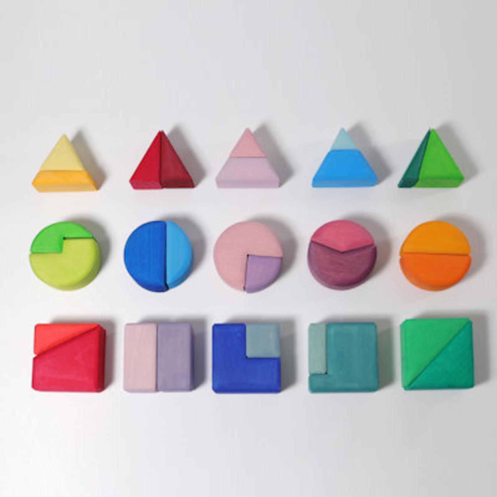 Grimm's Bouwset driehoek, vierkant, cirkel
