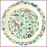 Rice Rice melamine kinderbord met jungleprint - groen