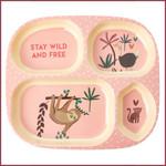 Rice Rice  Melamine vakjesbord - Jungle dieren roze