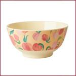 Rice Rice melamine bowl medium - Perzik print