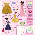 Djeco Stickerset aankleedpoppen jurken