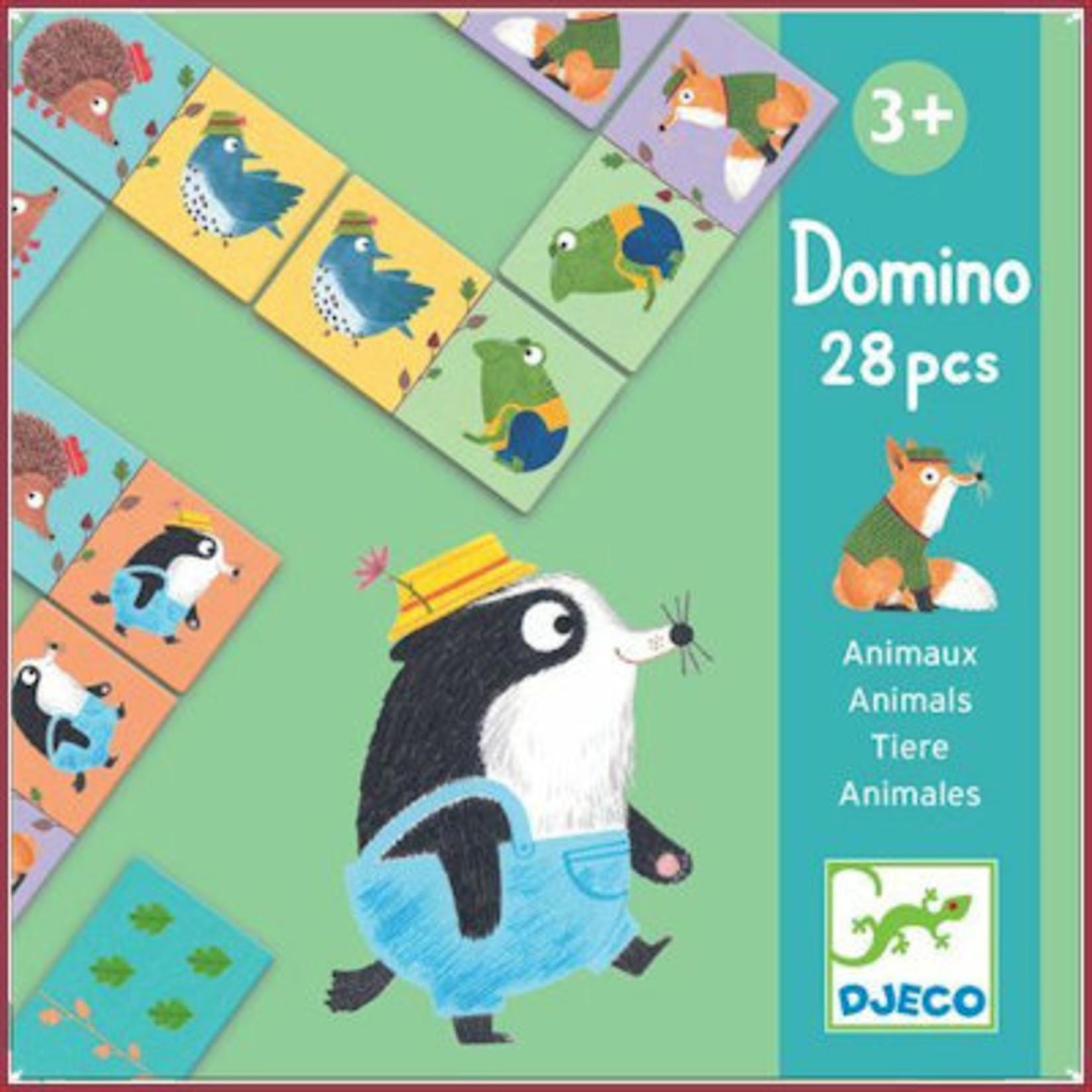 Djeco MLD Dierenpuzzel Domino - Dieren