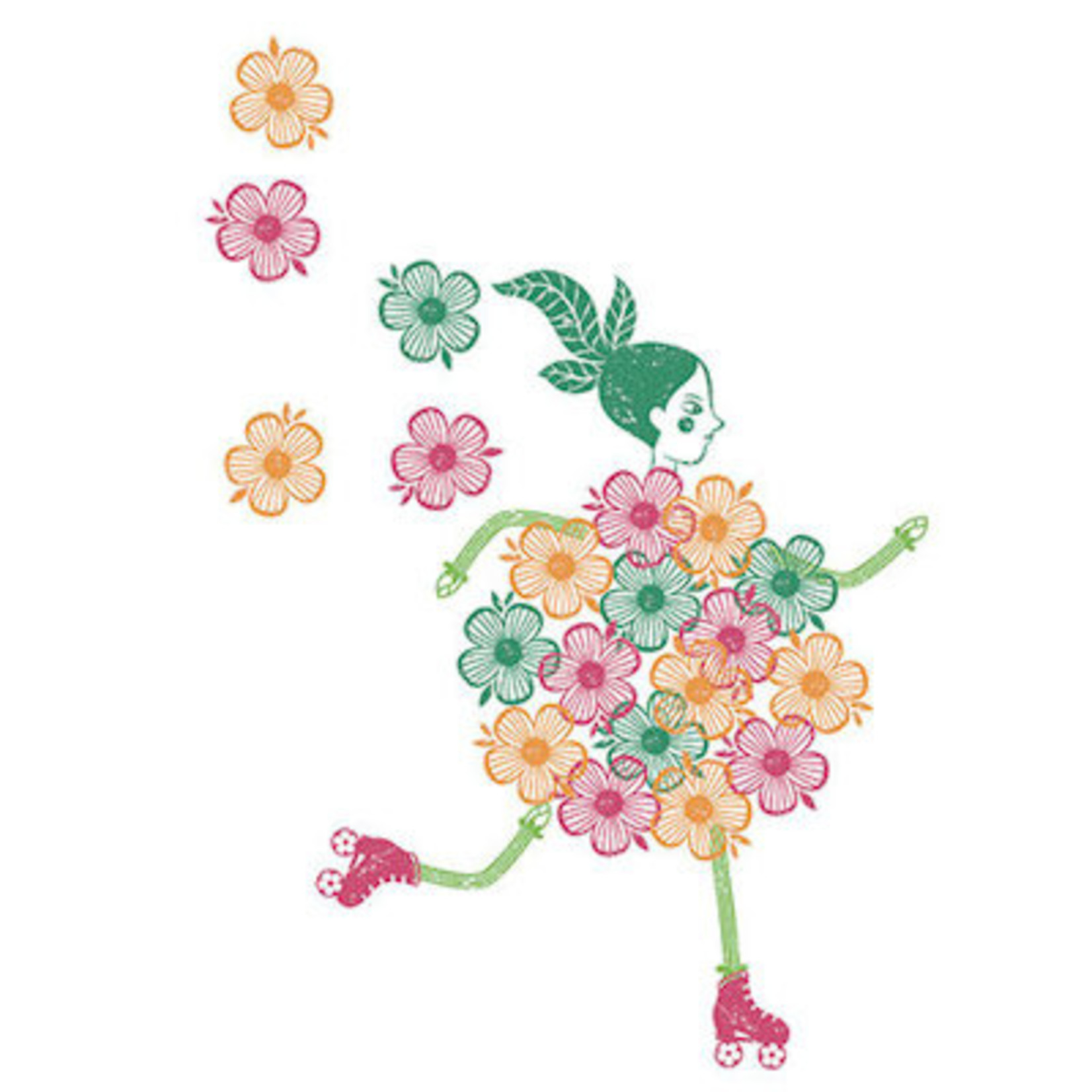 Djeco Mix & Match Stempeldoos - Bloemenmeisjes
