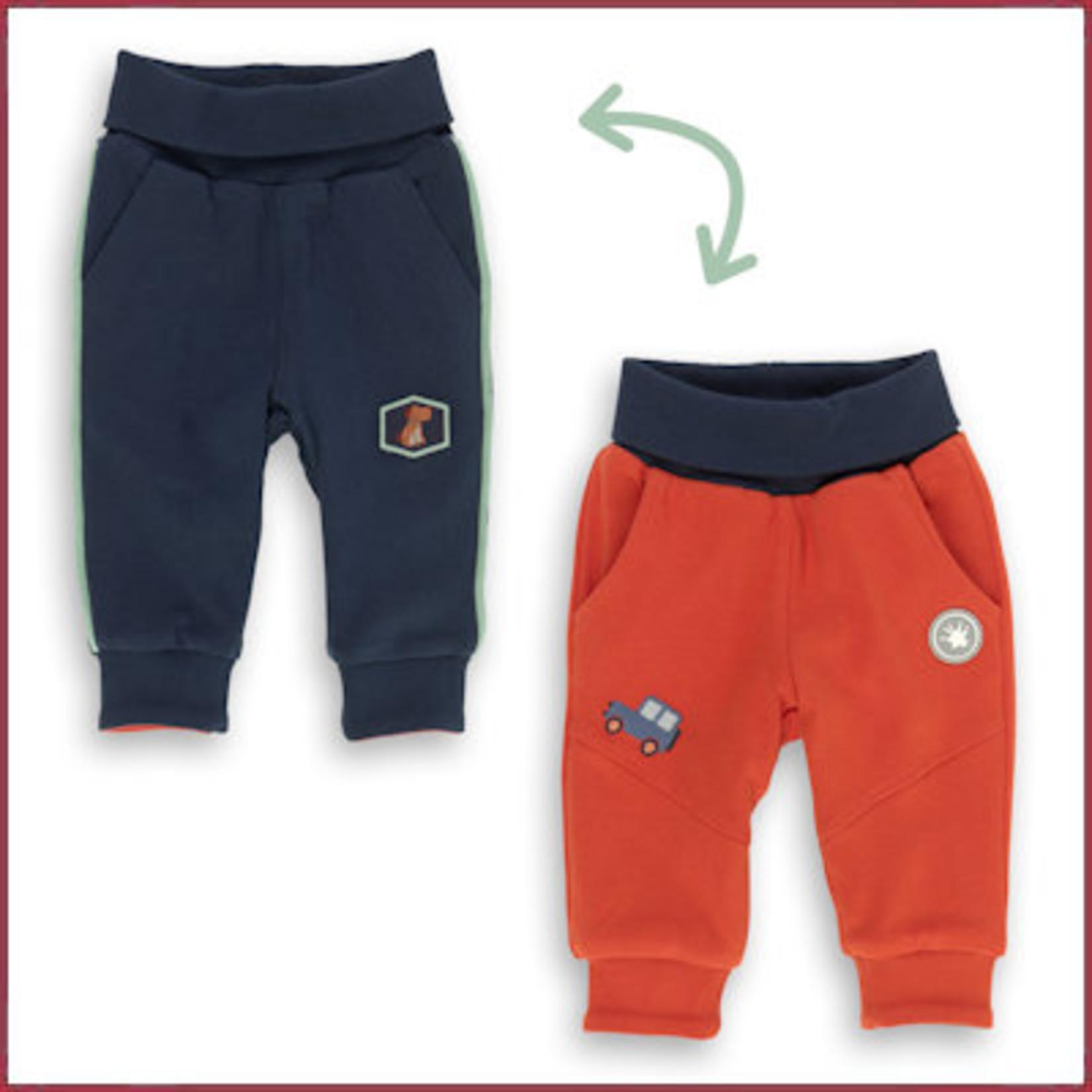 Sigikid Omkeerbroekje oranje/blauw