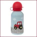 Sigikid Roestvrijstalen drinkfles -350ml. Tractor blauw