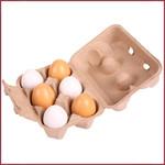 Doosje met 6 eieren