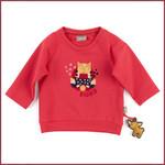 Sigikid Rood sweatshirt met poesje, biokatoen