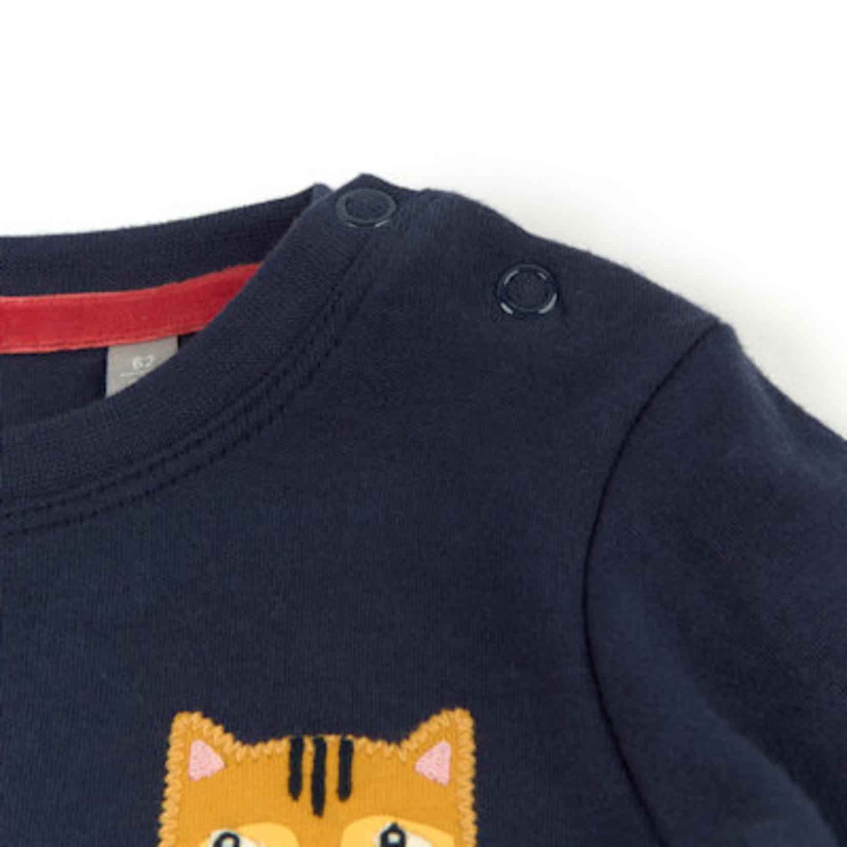 Sigikid Donkerblauw shirt met lange mouw, biokatoen