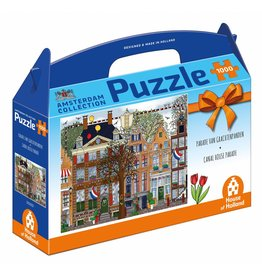 "House of Holland Puzzel 1.000 stukjes ""Parade van Grachtenpanden"