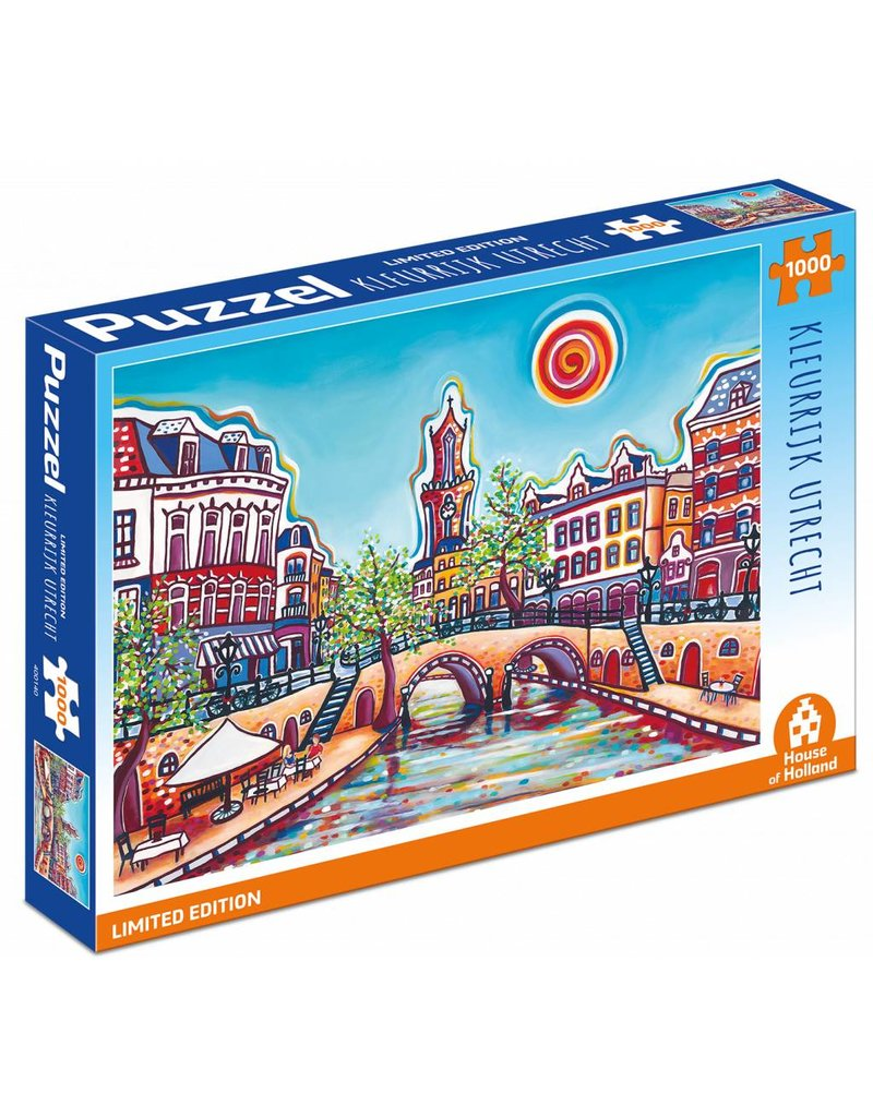 House of Holland 1.000 stukjes puzzel Kleurrijk Utrecht