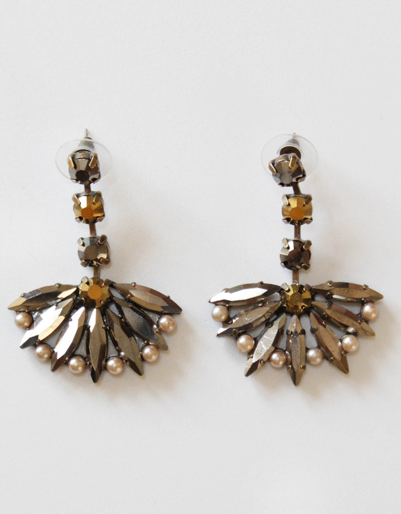 . FACY DECO FAN EARRINGS
