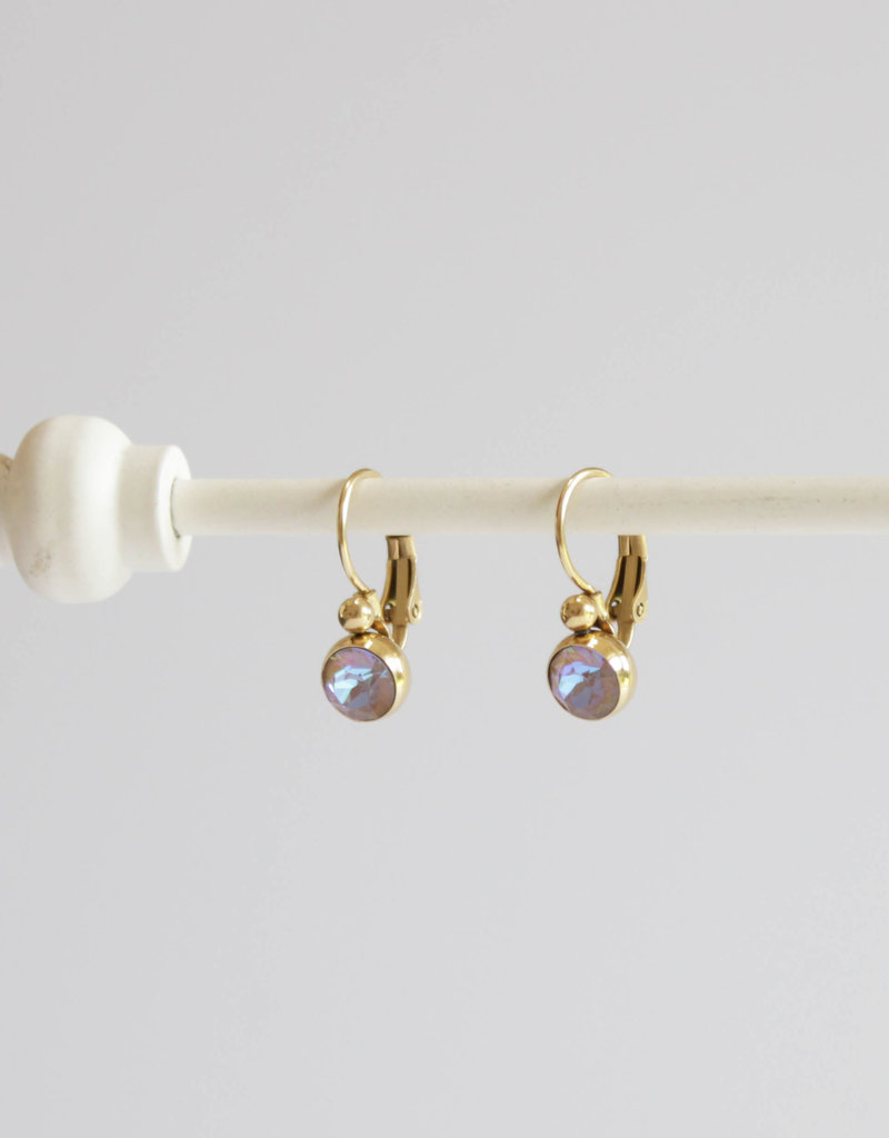 . EMMA GOLD GILDED SWAROVSKI DROP EARRINGS