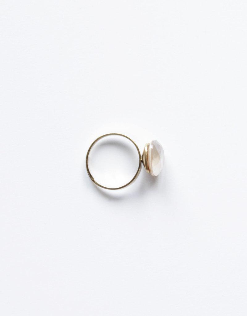. TORI GOLD PLATED SWAROVSKI RING
