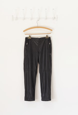 . GAIA LEATHER LOOK TROUSERS