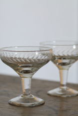 . WILLA LEAF CUT CHAMPAGNE COUPE