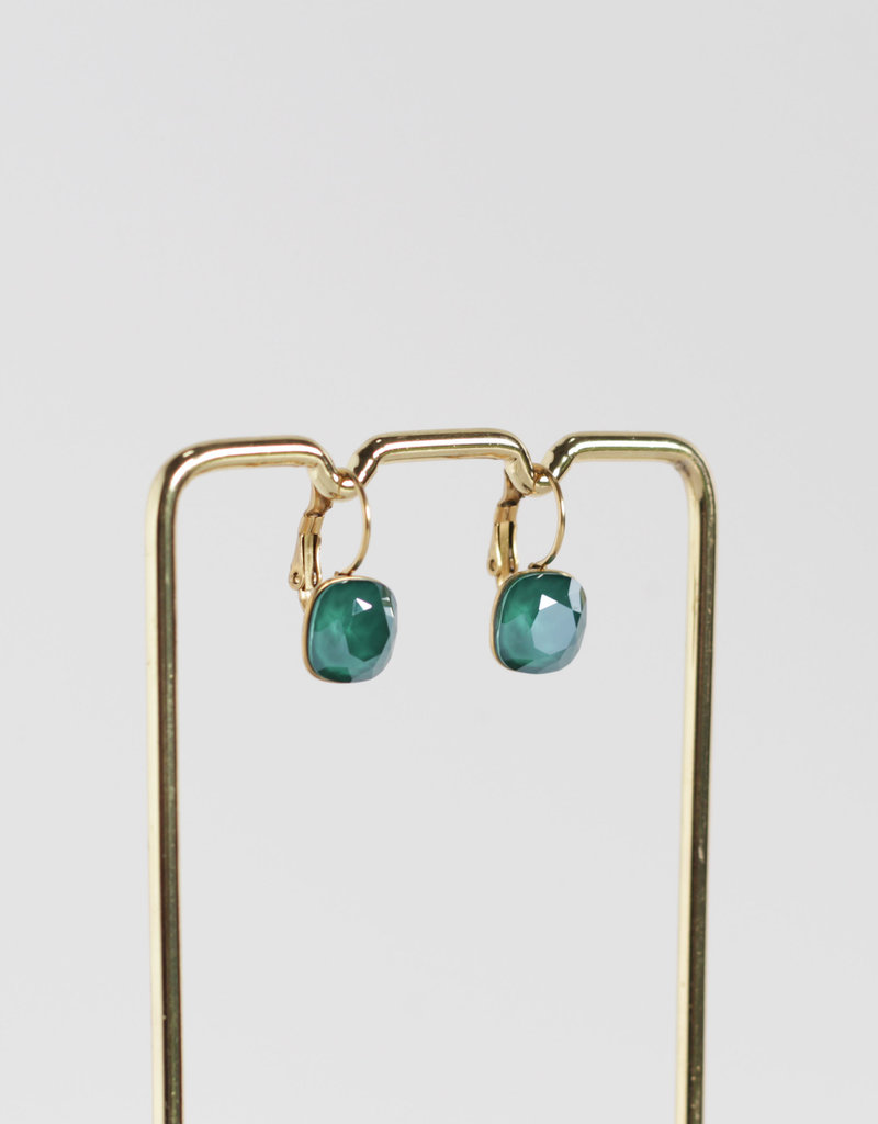 . SOFYA GOLD GILDED SWAROVSKI DROP EARRINGS