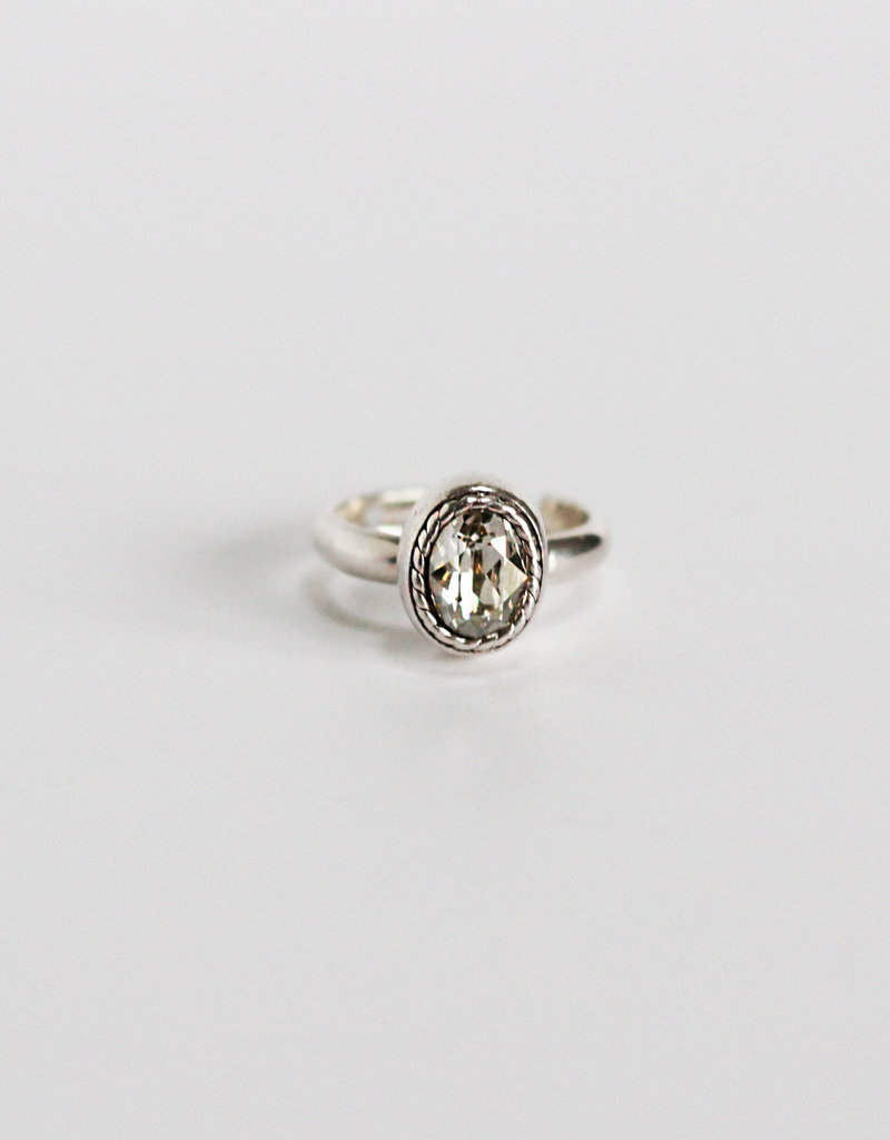 . VIOLETTE SILVER PLATED RING
