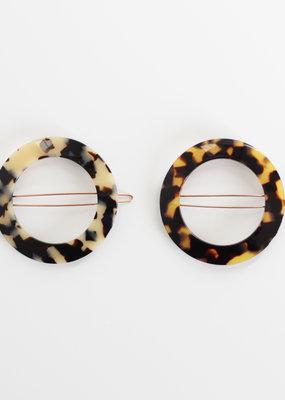 CIRCLE TORTOISE SHELL HAIR CLIP・Colours