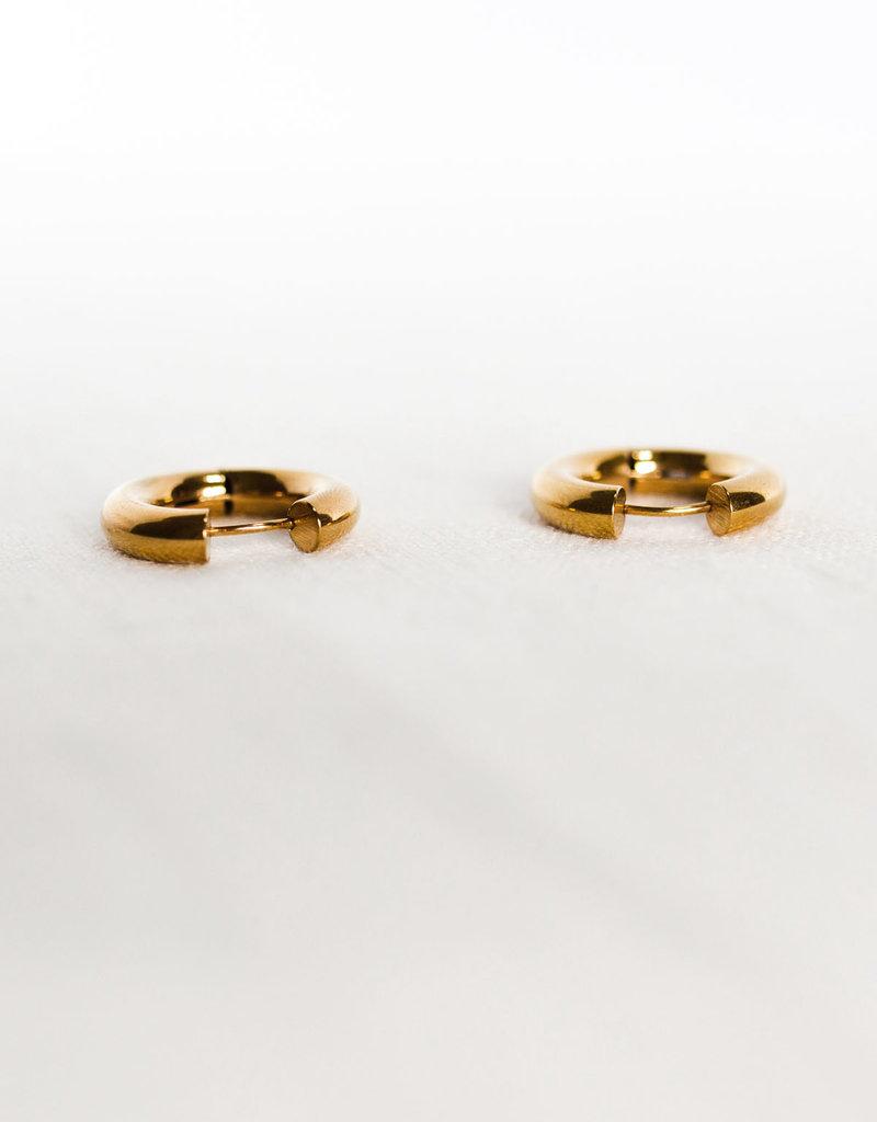. CHUNKY GOLD HOOP EARRINGS