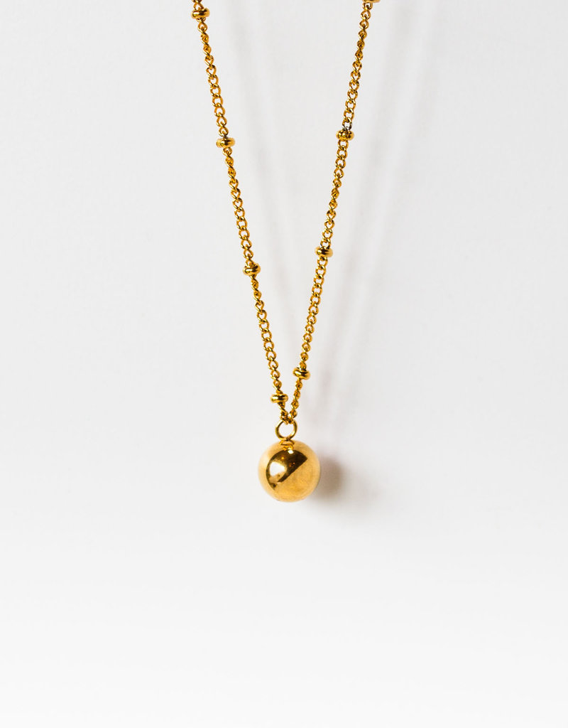 . BALL DROP CHAIN NECKLACE
